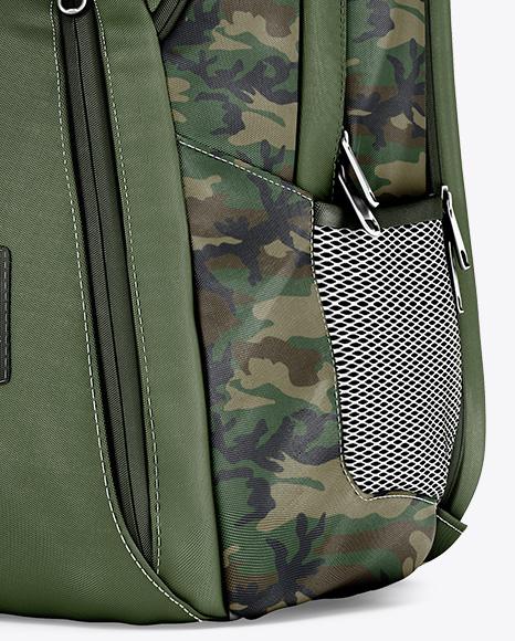 Backpack Mockup - Half Side View