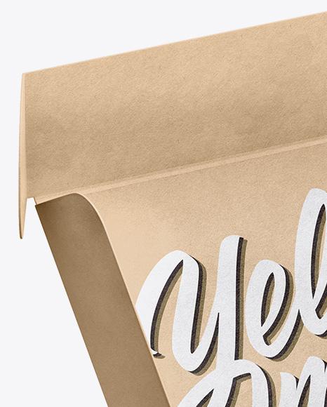 Download Opened Kraft Box With Donut Mockup Half Side High Angle Shot PSD - Free PSD Mockup Templates