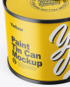 Matte Tin Can with Transparent Cap Mockup - Front View (High Angle Shot)