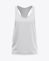 Men's Racer-Back Tank Top Mockup - Front View Of Gym Tank Top Shirt