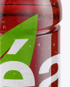 Tea Bottle with Condensation in Shrink Sleeve Mockup - Front View (High Angle Shot)