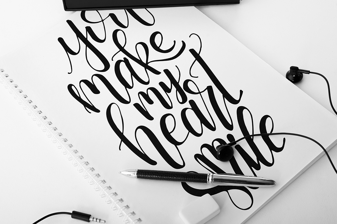 9 hand lettering Quotes about love