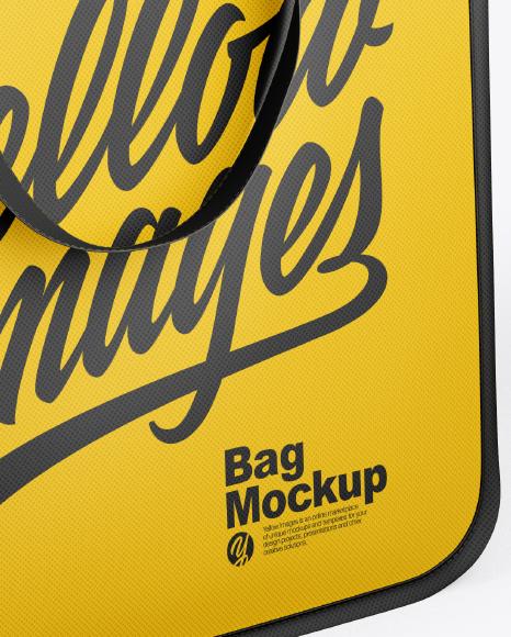 Download Bag Mockup Half Side View High Angle Shot Yellow Images