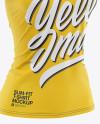 Women's Slim-Fit V-Neck T-Shirt Mockup - Front Half-Side View