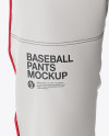 Fit Piped Baseball Pants - Front View
