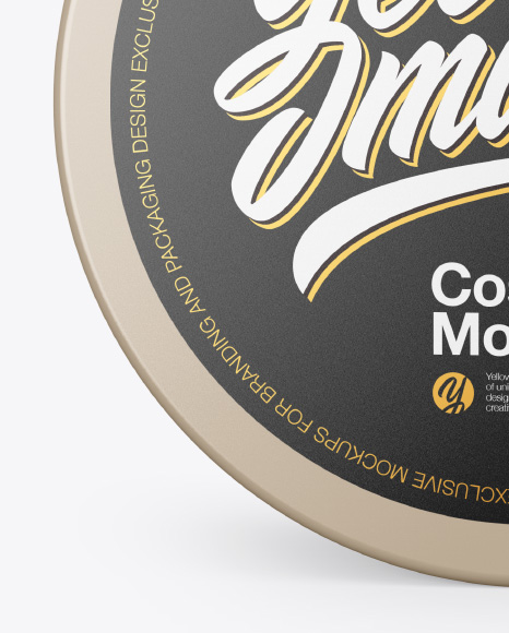 Cosmetic Jar Mockup - Front View