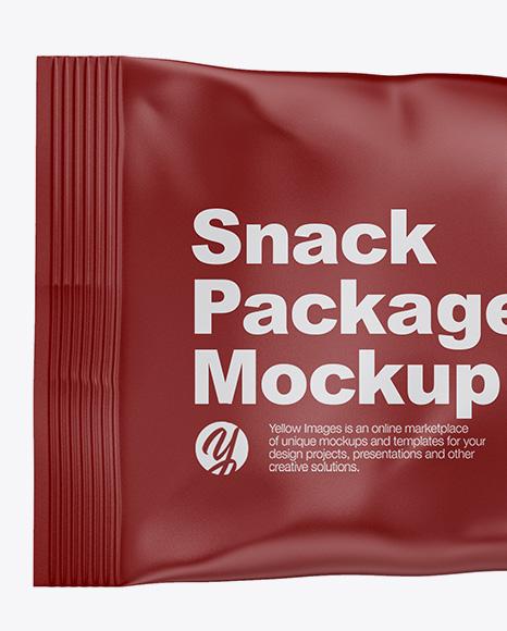 Matte Snack Bag Mockup - Front View