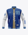 Open Varsity Jacket Mockup - Front View