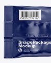 Glossy Snack Bag Mockup - Back View