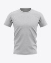 Men's Heather T-shirt Mockup - Front View