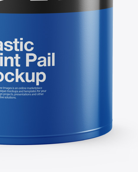 Plastic Bucket Mockup - Front View