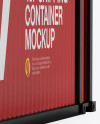 40F Shipping Container with Opened Doors Mockup - Halfside View