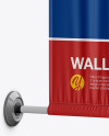 Wall Mounted Banner Mockup - Half-Side View