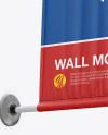 Wall Mounted Banner Mockup - Low-Angle Shot