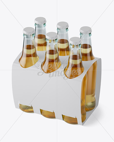 Download White Paper 6 Pack Beer Bottle Carrier Mockup Halfside View High Angle Shot In Bottle Mockups On Yellow Images Object Mockups Yellowimages Mockups