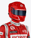 F1 Racing Kit Mockup - Half Side View