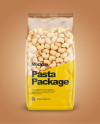 Pipe Rigate Pasta Mockup - Front View