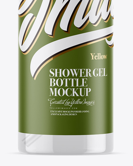 Clear Shower Gel Bottle with Pump Mockup