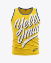 Men's Jersey Tank Top Mockup - Front View Of Tank Top Shirt