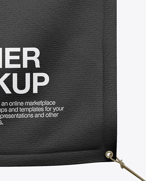 Vinyl Banner Mockup - Front View