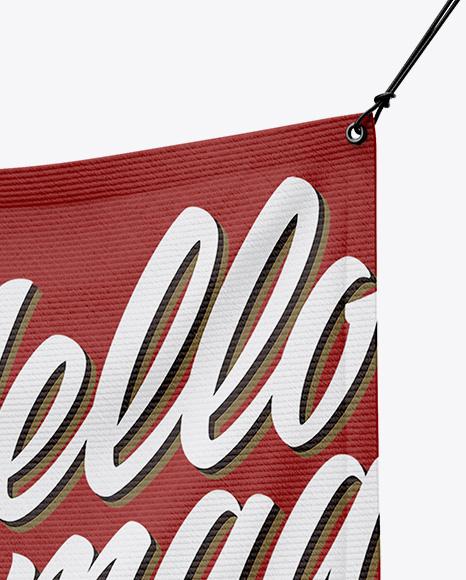 Matte Vinyl Banner Mockup - Half Side View