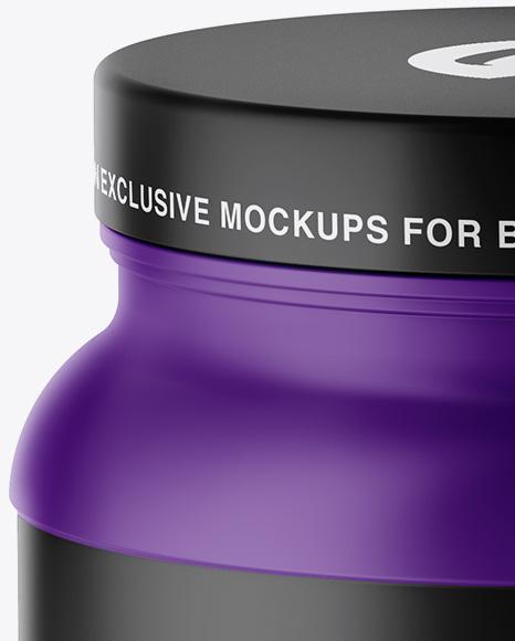 Matte Protein Jar Mockup - High-Angle Shot