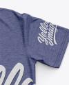 Men's Heather Classic Regular T-Shirt Back Side - Top View