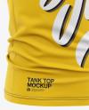 Men's Jersey Tank Top Mockup - Front Half Side View Of Tank Top Shirt