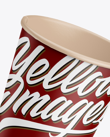 Two Matte Paper Coffee Cups Mockup