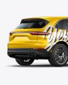 Luxury Crossover 5-doors Mockup - Back Half Side View