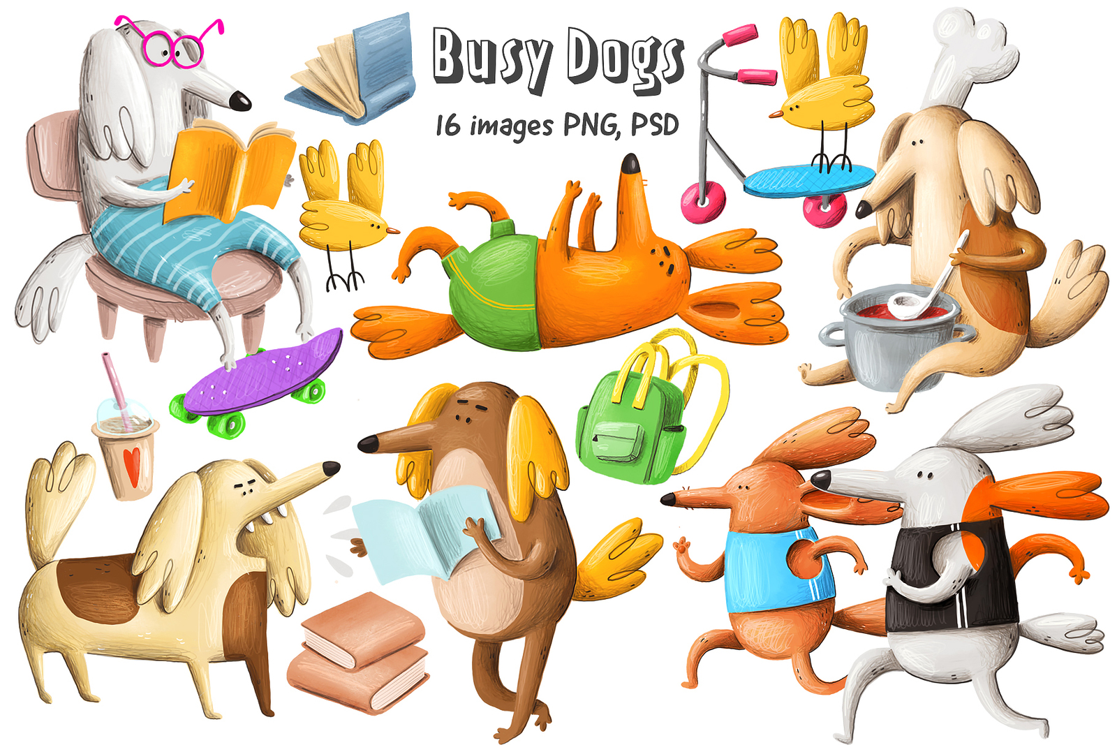 Collection of Dogs Characters
