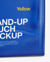 Stand Up Glossy Pouch Mockup - Half Side View
