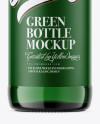 500ml Green Glass Bottle Mockup