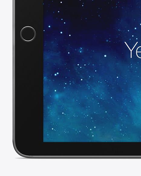 Horizontal iPad Mockup Mockup - Front View