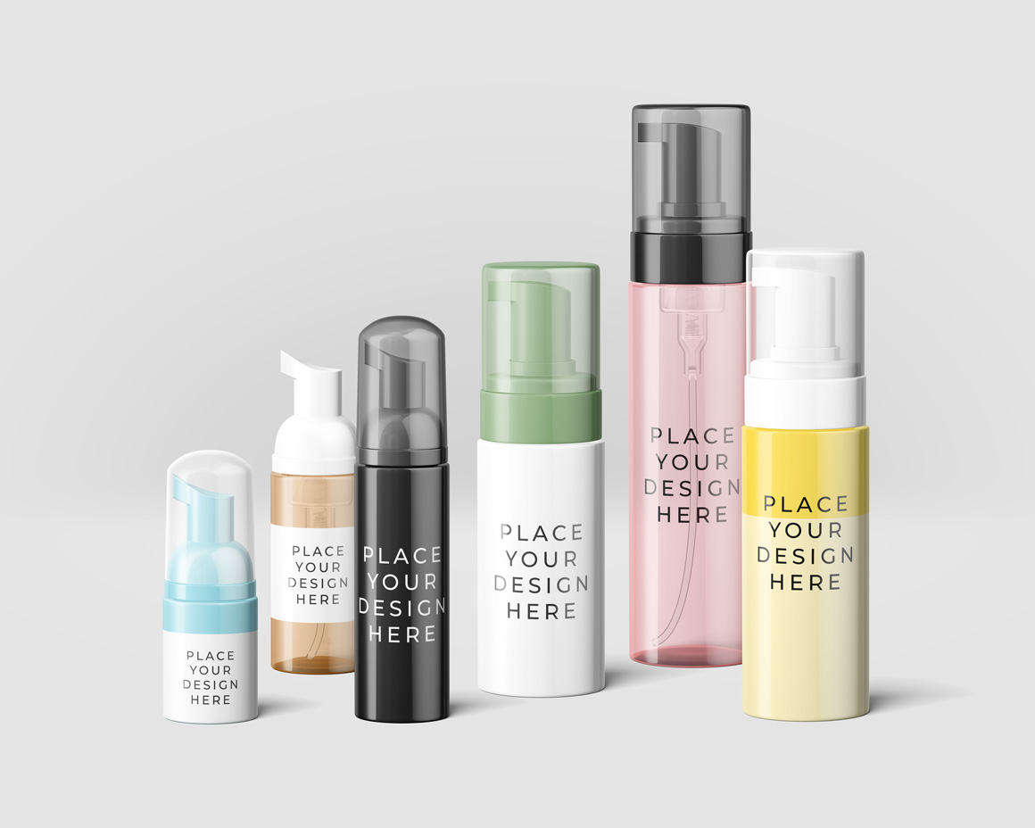 Cosmetic Bottles Mockup Vol.6