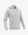 Men's Heather Hoodie Mockup - Half Side View