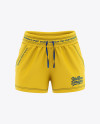 Women's Sport Shorts  Mockup - Front View