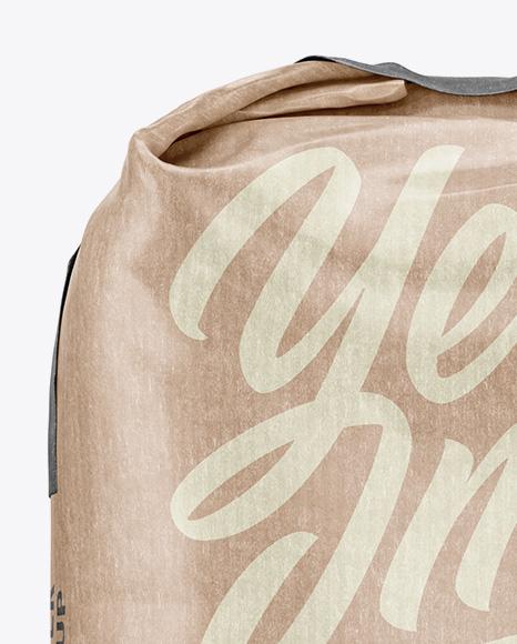 1 kg Kraft Paper Bag Mockup - Front View