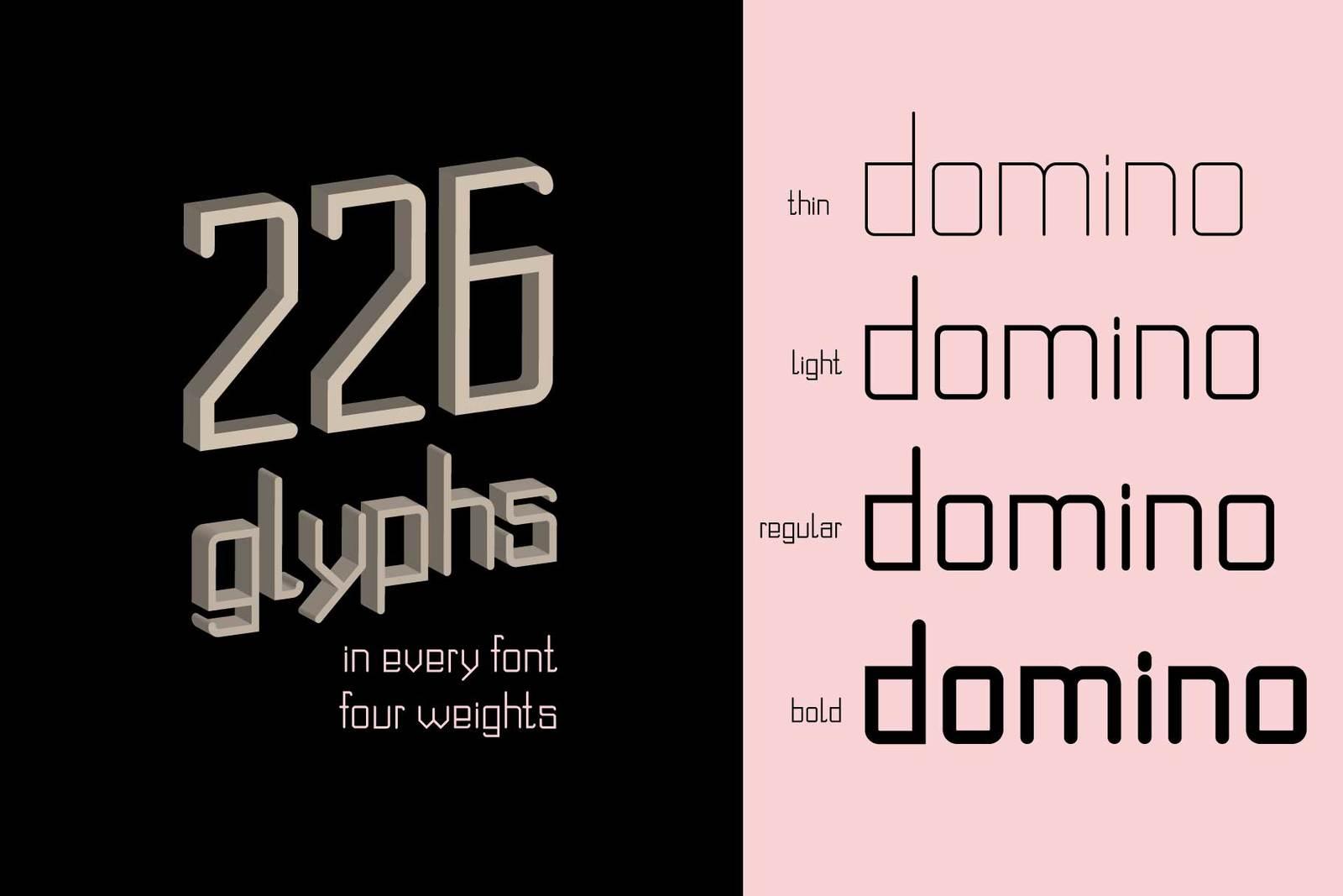 Domino font family