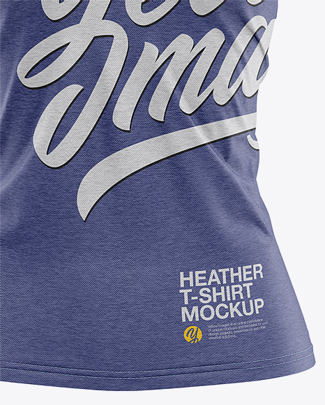 Women's Heather Slim-Fit T-Shirt Mockup - Front View