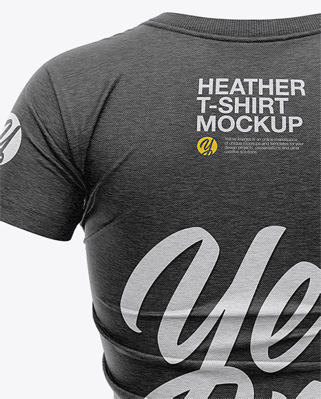 Women's Heather Slim-Fit T-Shirt Mockup - Back View