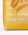 1 kg Matte Paper Bag Mockup - Front View