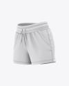 Women's Sport Shorts  Mockup - Front Half Side View