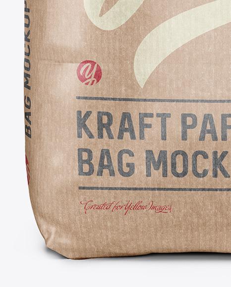 2 kg Kraft Paper Bag Mockup - Front View