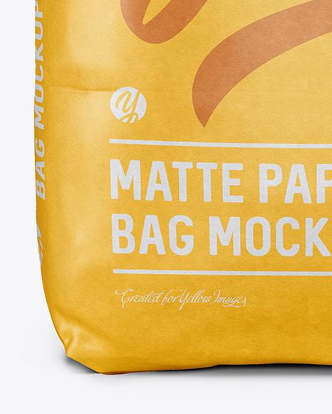 2 kg Matte Paper Bag Mockup - Front View