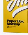 Matte Paper Box Mockup - Half Side View