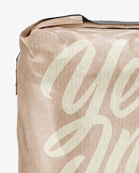3 kg Kraft Paper Bag Mockup - Front View