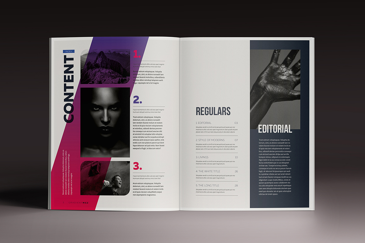 Gradient Magazine Indesign Template