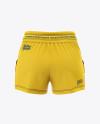 Women's Sport Shorts  Mockup - Back View