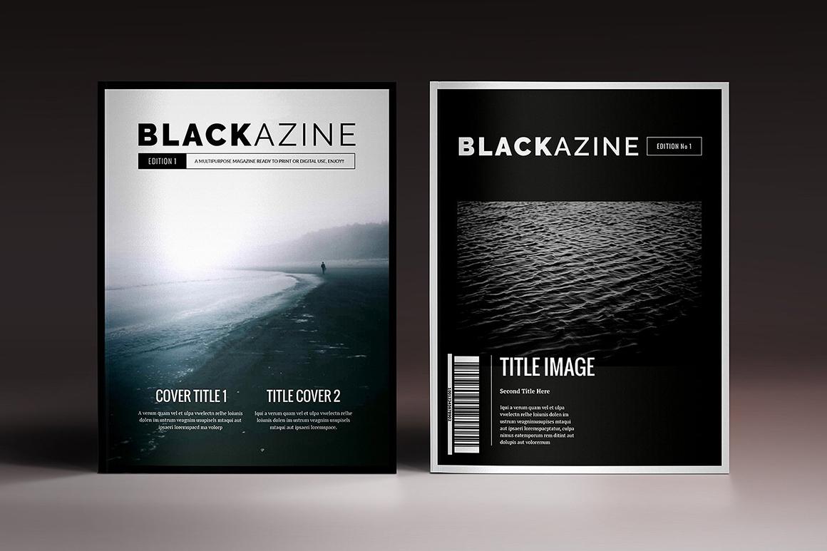 Blackazine Indesign Template